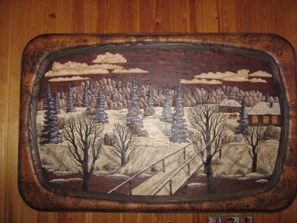 Картина на стене Сибирского дома сказок © Алёна Груя