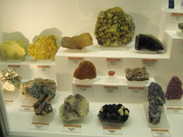 Некоторые из камней, представленных в экспозиции «Геология» © Алёна Груя