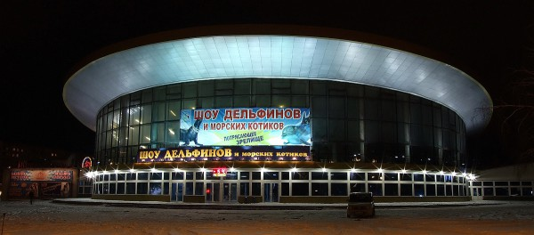 Ночное фото новосибирского цирка © vnv1957, http://fotki.yandex.ru/users/vnv1957/view/141183